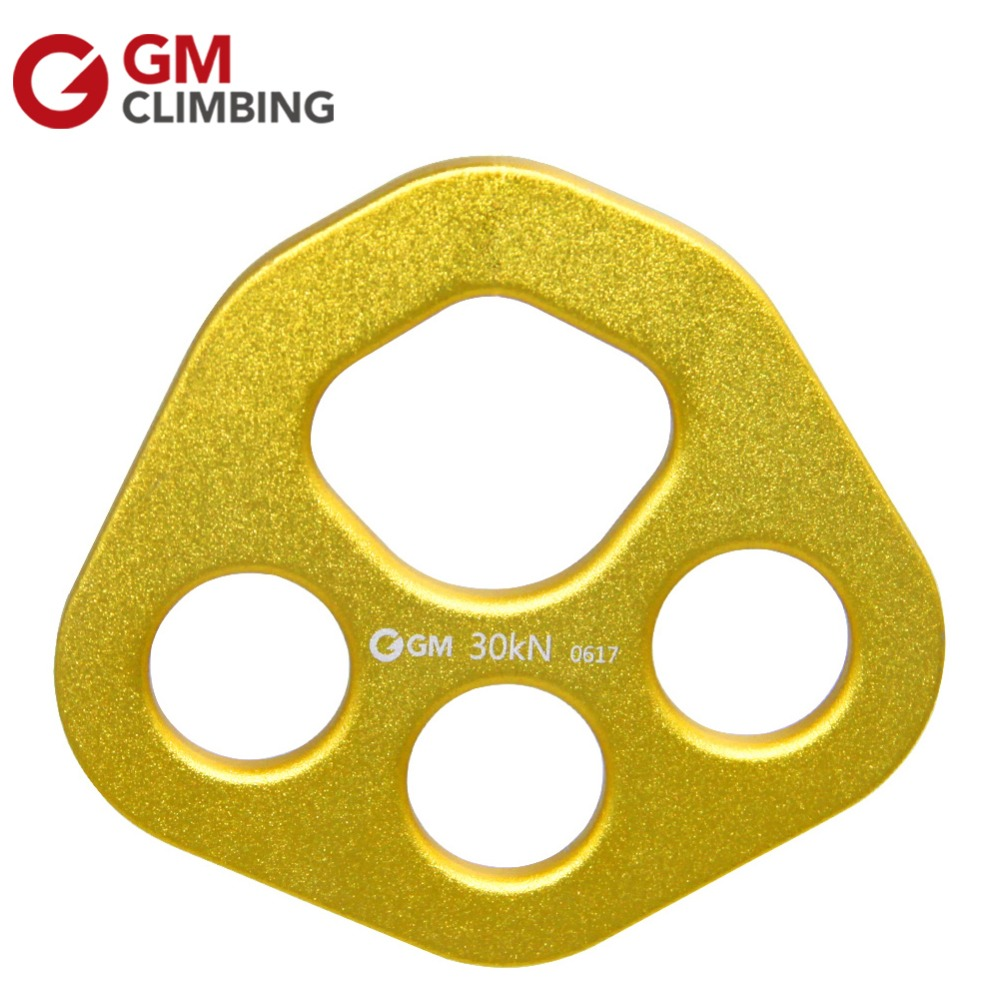 30KN/6700lbs Aluminum Alloy Bear Paw Rigging Plate Multi Anchor Device For Rock Climbing Caving Survival Rescue Mountaineering