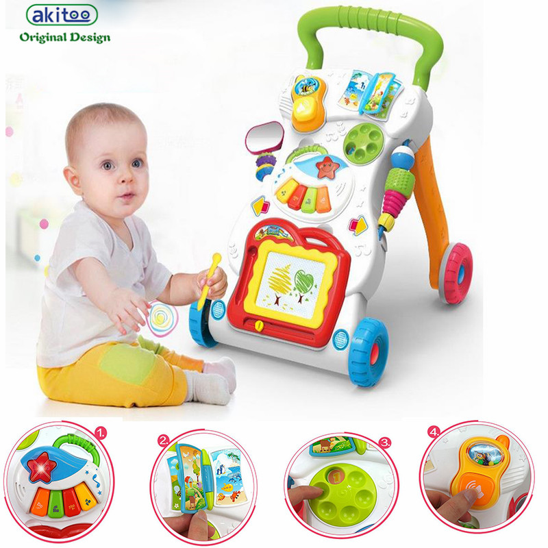 Baby Toys Drawing : Akitoo new baby ride on car trolleys with musical