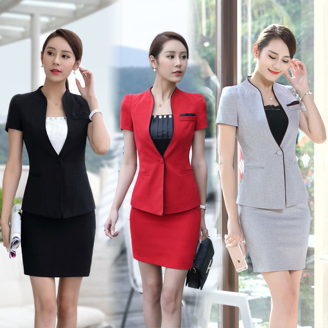 66f82a5444af5 Plus Size 3XL Professional Business Blazers Suits For Office Ladies Blazer  Outfits Beauty Salon Clothing Sets Uniforms