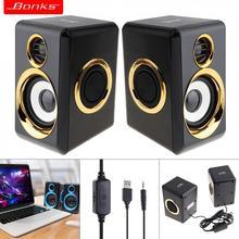 Полный спектр портативный бас Музыка мини сабвуфер PC динамик компьютера s caixa де сом с 3,5 мм аудио разъем для ноутбука телефона