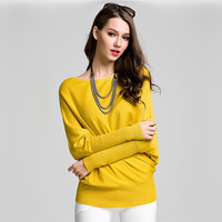 2017 Spring Style Women S Round Neck Bat Sleeve Sweaters Fashion Female Hedging Long Sleeved Knit