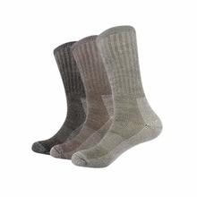 3pairs/bag Vihir Men Winter Cushioned Merino Wool Socks High Knee Outdoor Sports Hiking Camping Climbing Socks Cycling Ski Socks