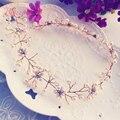 Mujeres de la venda hecha a mano del pelo adornos de joyería de perlas de cristal de matrimonio decoración Festival de Regalos del banquete de boda accesorios RE595