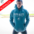 ALPHALETE 2016 New Autumn&Winter Fashion Men Sweatshirts Men's Fashion Hooded Hoodies Thick Fleece Coat Jacket High Quality