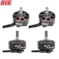 4PCS/LOT DYS SUN FUN 2207 1750KV 2400KV 2750KV CW Thread FPV Racing Brushless Motor For RC Drone Quadcopter Spare Parts