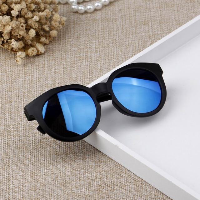 UCOOL Doces cor matagal óculos de Sol das Crianças Coreanas Brilhante  Rflective Oculos Feminino Redondo Lente 4a2388c50d
