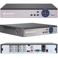DEFEWAY 1080N HDMI Surveillance Video Recorder 8 CH AHD DVR Network P2P NVR for IP Camera 8 Channel CCTV Security System No HDD