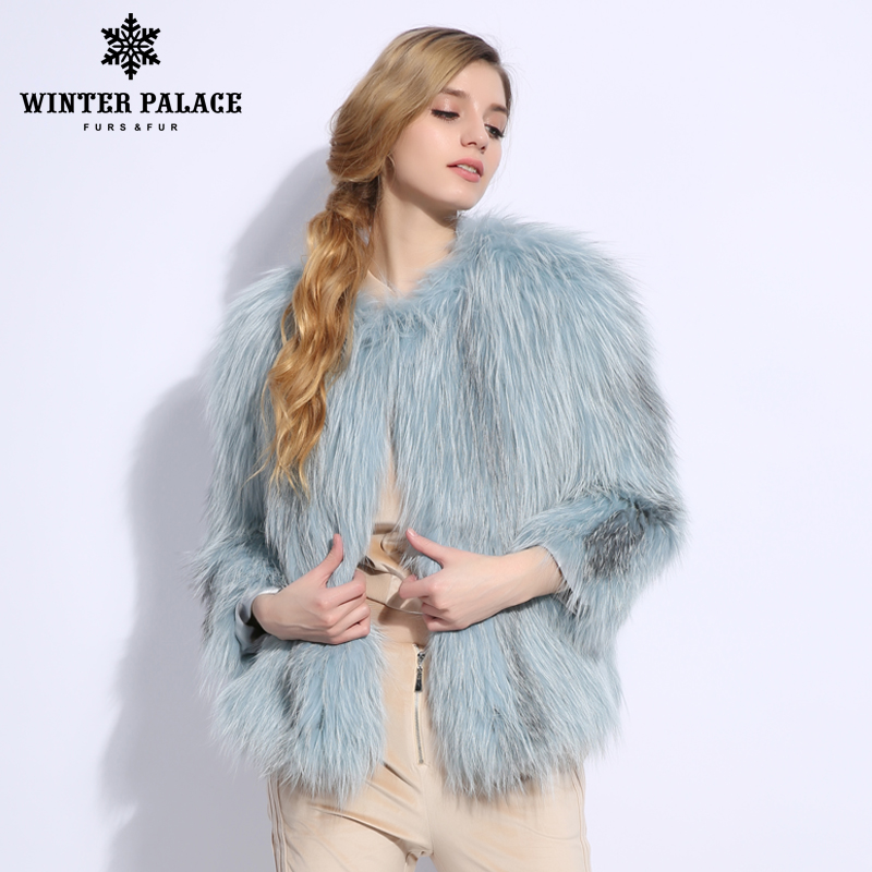 2018 New Fashion Slim Fur Sexy fox fur vest Nine Quarter of fox fur coat Genuine Leather real fox fur coat O-Neck Short coat