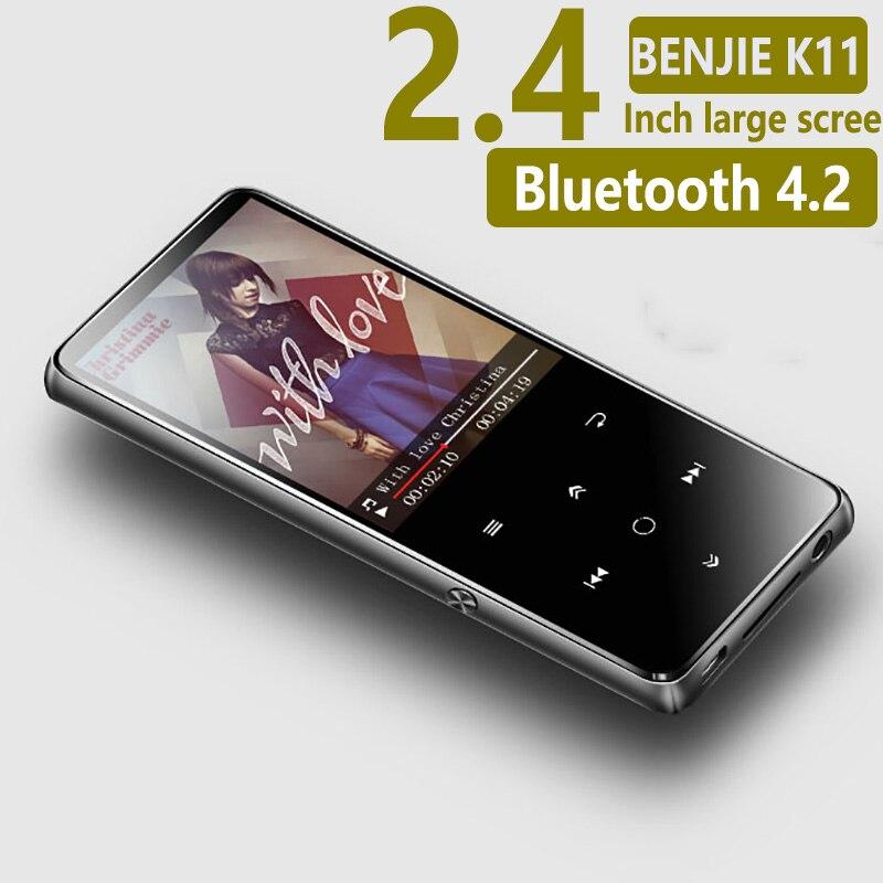 Original BENJIE K11 IPX4 Waterproof HIFI Mp3 Music Player 8GB Lossless Mini Portable Audio Players FM Radio Ebook Voice Recorder sayin sy 908 mini ipx4 shower radio w fm am deep blue white