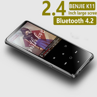 Original BENJIE K11 IPX4 Waterproof HIFI Mp3 Music Player 8GB Lossless Mini Portable Audio Players FM Radio Ebook Voice Recorder