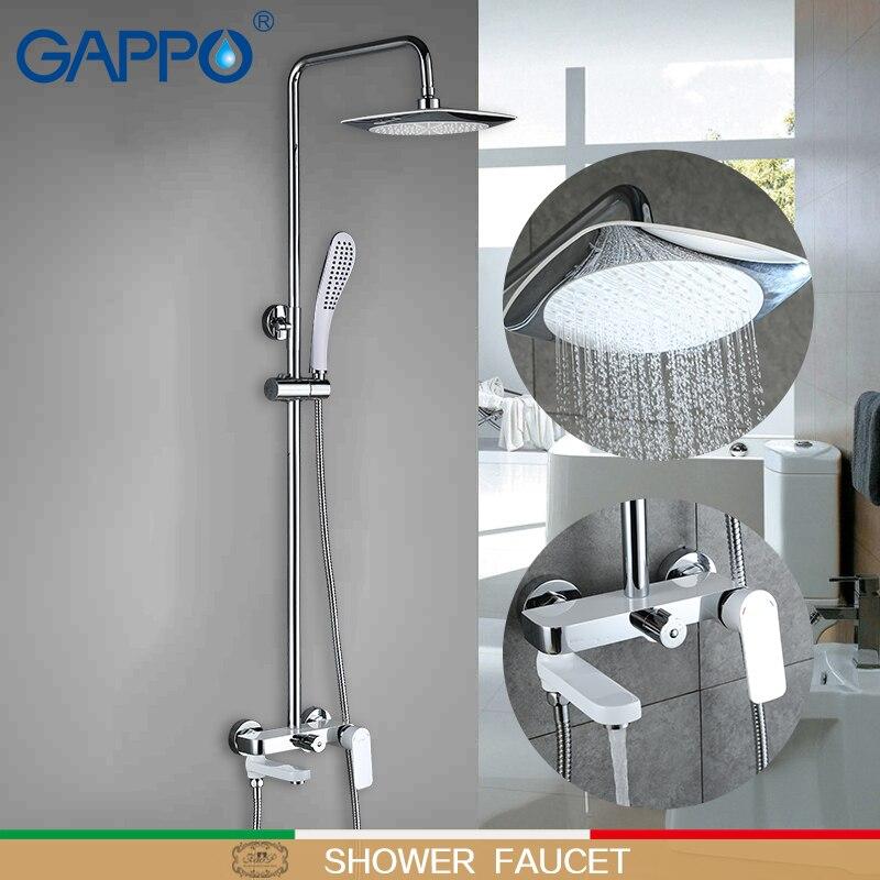 GAPPO смесители для душа настенный griferia краны ванная комната смеситель для душа латунный смеситель белый набор