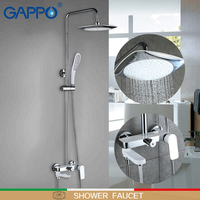 GAPPO Shower faucets wall mounted griferia taps bathroom faucets shower brass shower faucets white bathroom shower set