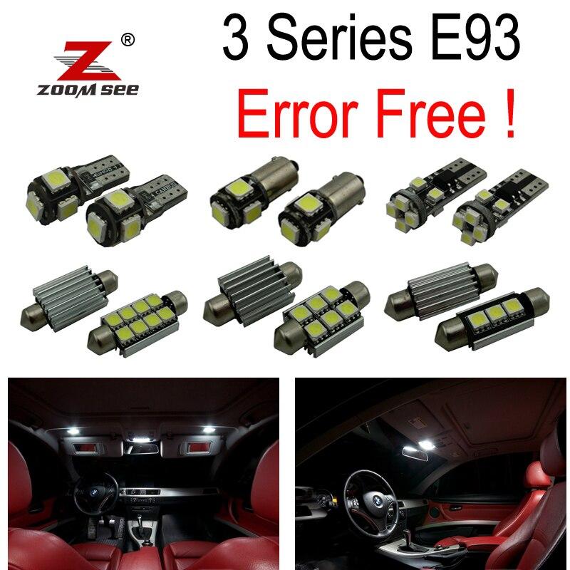 20pc х Е93 светодиодные лампы интерьер свет комплект сигнал для BMW 328i 335i 335is м3 Е93 кабриолет (2006-2012)