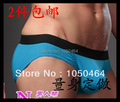Boxer ShortsHot-selling Contrast color  male classic black stereo customize 100% cotton belts modal panties belt