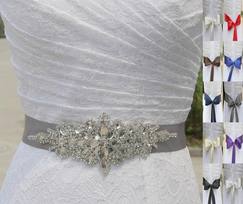 Inofinn Crystal Wedding Belt Rhinestone Czech Stones Bride Bridal Belt Sashes Wedding Accessories Evening Dress Belt Sashes