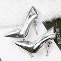 Retro Women Pumps Shoes 2017 Summer  High Heel Pumps Shoes Pointed  Toe Thin Heels Shoes Waterproof Platform Woman Pumps