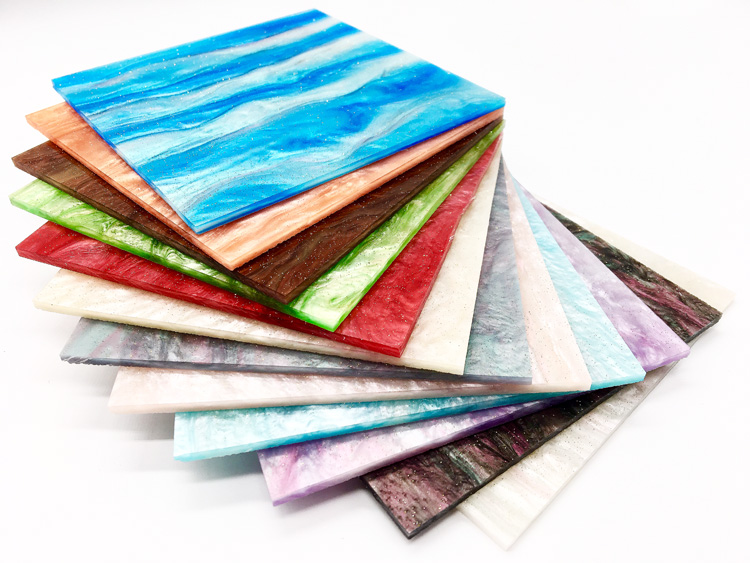 600mm x 300mm x 3.0mm (L x W x T), Multi Colors Acrylic (PMMA) Ripple Glittering Sheets   8 pcs/lot-in Plaques & Signs from Home & Garden    2
