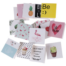10pcs/set Cartoon Birthday Greeting Cards Creative Mini Cards Christmas Card Blank New Year Greeting Postcard(China)