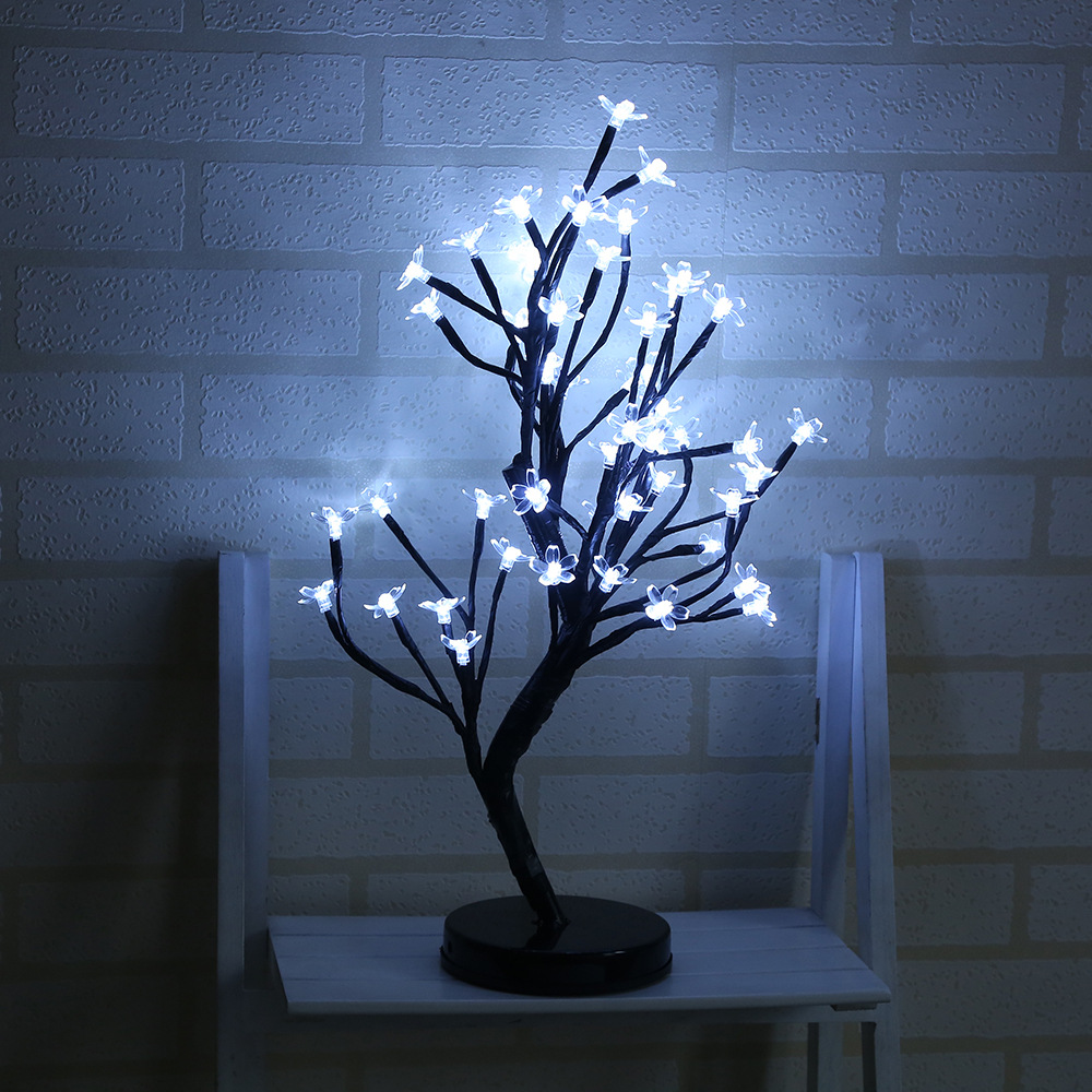 48LED battery box plum bonsai tree lights Christmas decorations Nightlight jiaderui 45cm 36led 48led cherry blossom desk top bonsai tree lights black branches christmas wedding party indoor decor lights