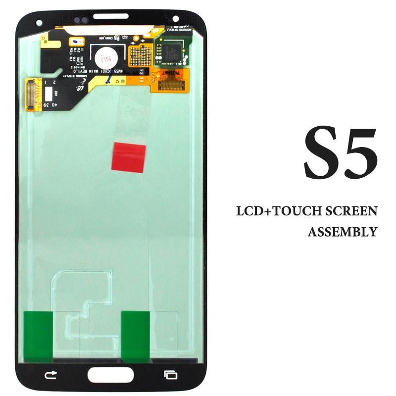 64b5dec215f Cheap Super AMOLED negro pantalla blanca para Samsung Galaxy S5 pantalla  LCD G900H G900F G900M digitalizador