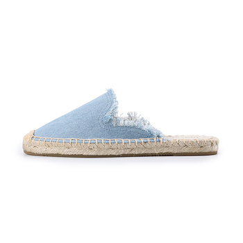 Tienda Soludos Women's Frayed Mule Canvas Rubber Solid Spring/autumn Women Slippers Fashion Slides Summer Sandals Plush Shoes  4