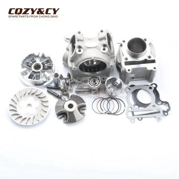 125cc Cylinder & Head Kit & Variator Roller Drive Kit for YAMAHA BWS ZUMA 125 YW125 CYGNUS-X  4V 52.4mm