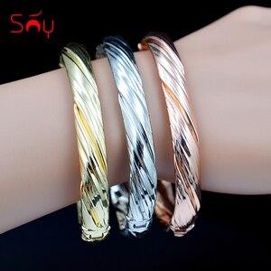 Image 1 - Sunny Jewelry, хит продаж, большой круглый Набор браслетов для женщин, Браслет манжета, вечерние ювелирные изделия для свадьбы, подарок, этнические ювелирные изделия