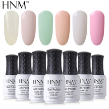 HNM Light Color Series 8ML Nail Polish Hybrid Lacquer Gel Varnishes Soak-Off UV Gel Polish Primer Nail Art Base Top GelLak ink