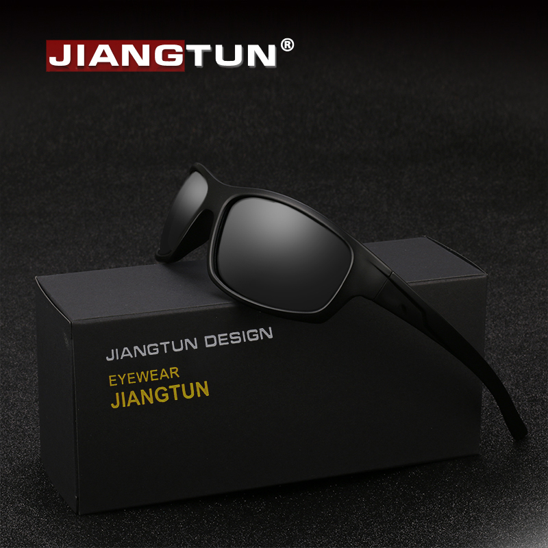 922fcdc929 JIANGTUN Sport Sunglasses Polarized Men Women Brand Designer Driving  Fishing Polaroid Sun Glasses Black Frame Oculos