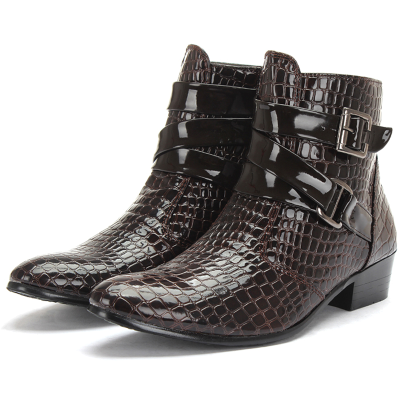 Popular Mens Patent Leather Boots-Buy Cheap Mens Patent Leather ...