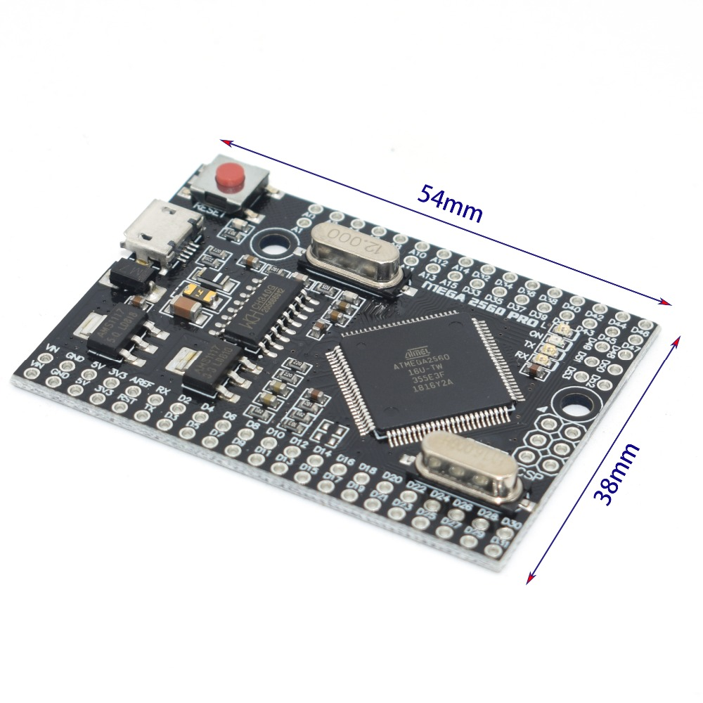 MEGA 2560 Pro Embedded USB CH340G ATMEGA2560-16AU Chip for arduino Mega 2560 R3