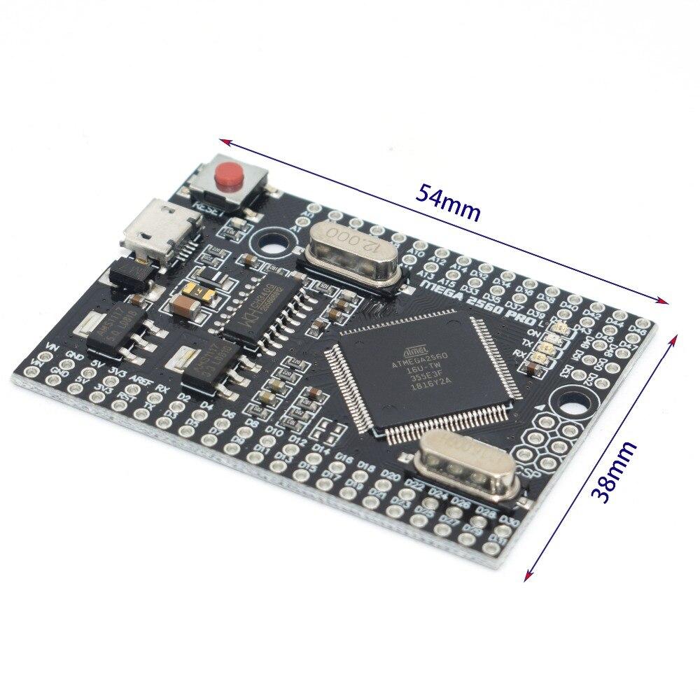 MEGA 2560 PRO incrustar CH340G/ATMEGA2560-16AU Chip con macho pinheaders Compatible para arduino Mega 2560