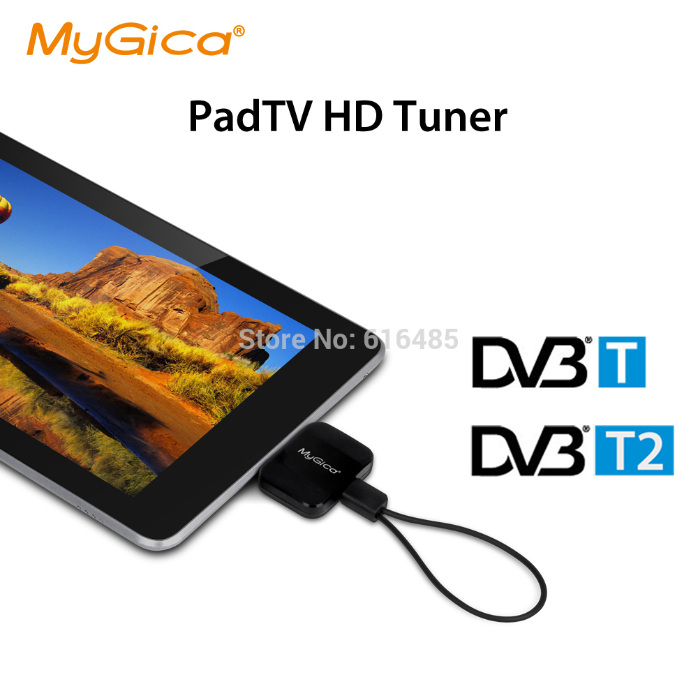 H.265/H.264 Full HD DVB T2 Receiver Micro USB Tuner Pad HD TV Stick -Geniatech MyGica PT360 Watch DVB-T2/-T On Android Phone/Pad(China)