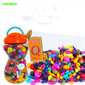 HAPPYXUAN 300pcs/barrel Kids DIY Plastic Pop for Jewelry Making Baby Girl Handmade Necklace Bracelet Fun Creative Puzzle Toys