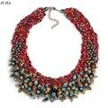 2017 nuevos granos de la vendimia de la manera collar de perlas de cristal bib declaración cadena maxi choker collares para las mujeres regalo de cumpleaños