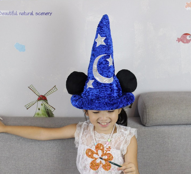 Fantasia Blue Mickey Mouse Hat Stuffed Animals Plush Toy Doll Cosplay Party 21daee7bd7f