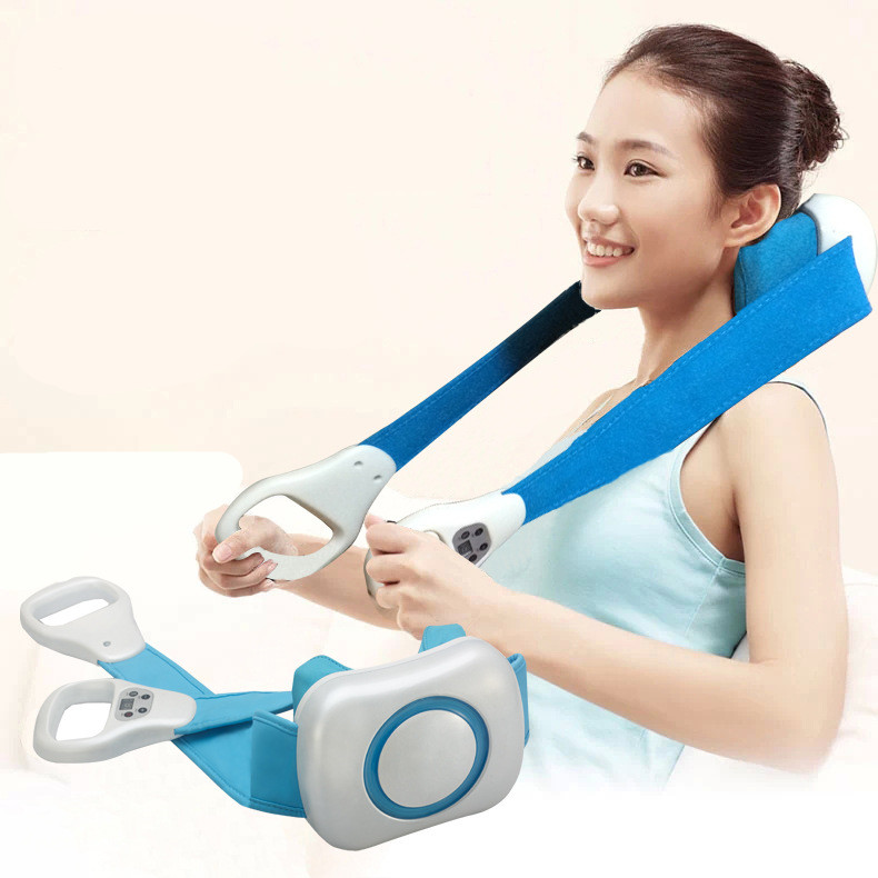 Neck kneading massager neck massage pillow health care cervical massager shoulder massage instrument car home dual use electric massage pillow infrared heating kneading cervical neck shoulder auto shiatsu massager car use massage