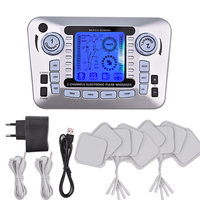 12 Modes Digital Body Massager Tens Acupuncture Therapy Machine For Back Neck Foot Leg Care Muscle Stimulator Fat Burner 10 Pads