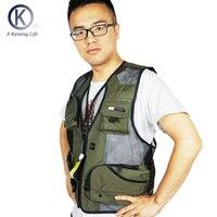 Angeln Weste Qualität Outdoor Angeln Vest Kleidung/Jacken Kamera Weste Mulit-tasche Kleidung außerhalb Wandern Westen