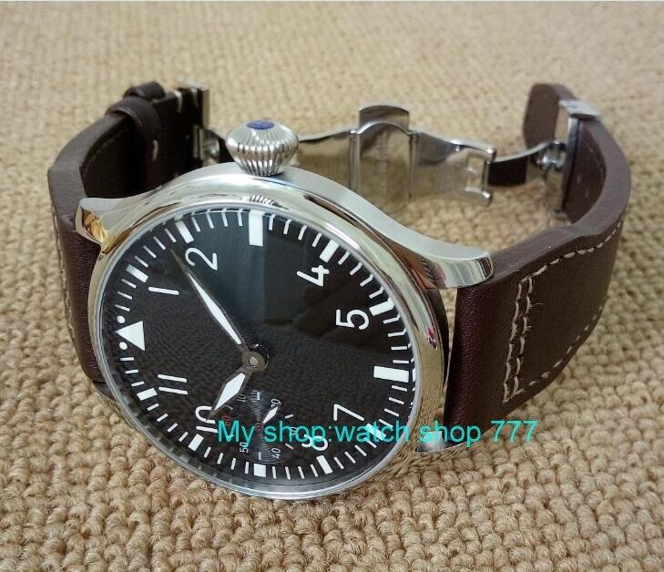 蝶バックル 2017 新ファッション 44 ミリメートルパーニスパイロット 6497 メカニカルハンド風ムーブメントメンズ腕時計卸売 xRNM11  グループ上の 腕時計 からの 機械式時計 の中 1