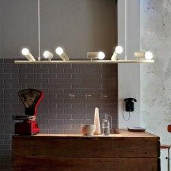 Nordic nowoczesny lampa wisząca z kutego żelaza czarny/biały sześć/dziesięć ptaki zawieszenia oprawy LED E27 na wystrój wiszące oprawy oświetleniowe w Wiszące lampki od Lampy i oświetlenie na