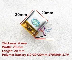 Image 2 - أفضل بطارية ماركة 062020 602020 170MAH 3.7V عالية السعة بطارية ليثيوم بوليمر سمّاعات بلوتوث لعب