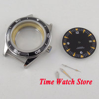 Fit ETA 2836 MIYOTA movement 41mm black ceramic bezel sapphire glass 316L stainless steel watch case +black dial+hands C133|Watch Faces| |  -
