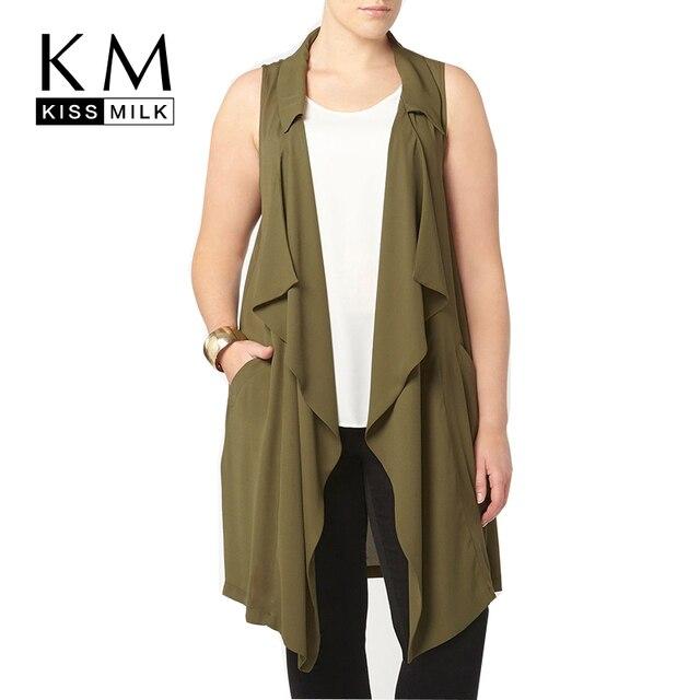 Kissmilk Плюс Размер Женщин Новая Мода Твердые Свободные Кардиган Большой Большой Размер Осень Нерегулярные Тонкий Уличная Кардиган 3XL-6XL