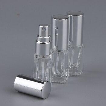 Botellas de vidrio para pulverizar botellas de vidrio para pulverizar, atomizador de niebla fina para Perfume, Colonia Splash de relleno-negro/plata/oro opcional, 3X 3mL