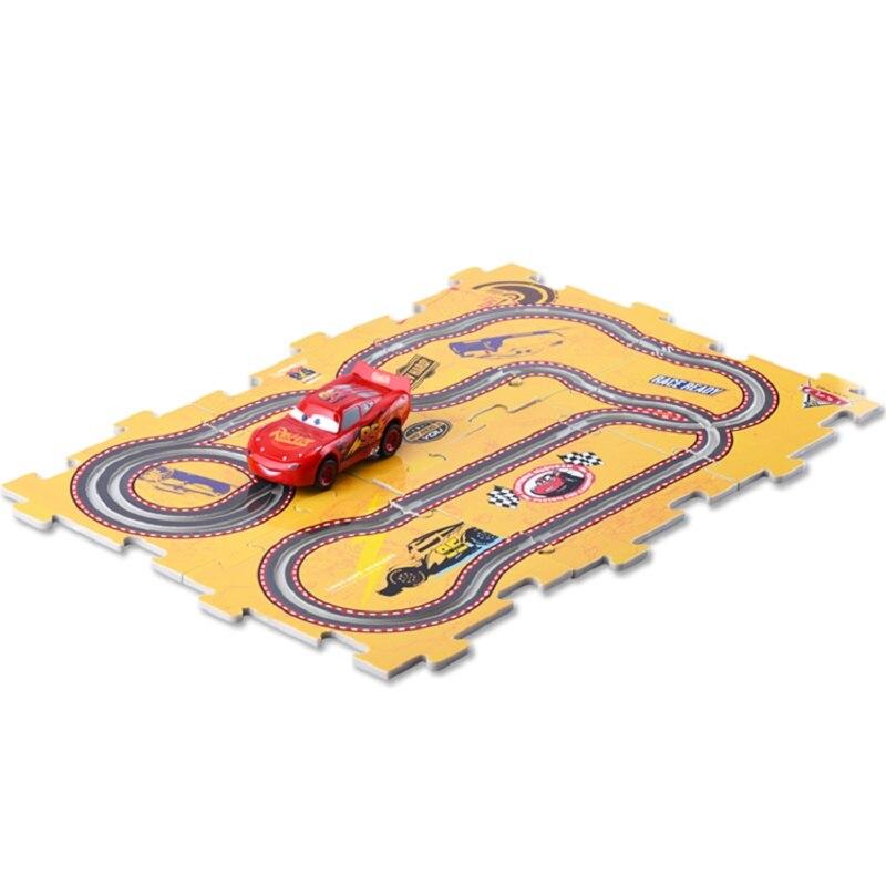 Disney Pixar car3 Electric track toy car 95 Mcqueen <font><b>Jackson</b></font> race Plastic mold car diecast toy cars DIY 6 pcs slot <font><b>puzzle</b></font> tracks