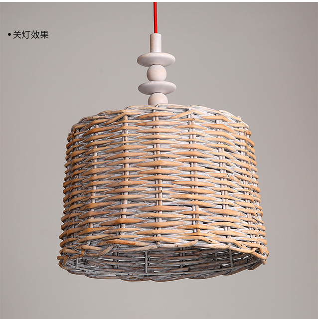 Bamboo Retro Light Fixtures Pendant Lamps Bar Teahouse Restaurant Of Lantern Pendaght Wood Decorative Lightint