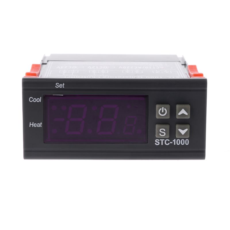 STC 1000 Digital LCD Display Temperature Controller Thermostat Relay 110V 220V Heating Cooling Farm Device Sensor For Incubator in Temperature Instruments from Tools