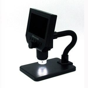 "Image 2 - 600X مجهر usb كاميرا فيديو مجهر رقمي 8 LED VGA مجهر لحام مع 4.3 ""HD شاشة OLED G600"