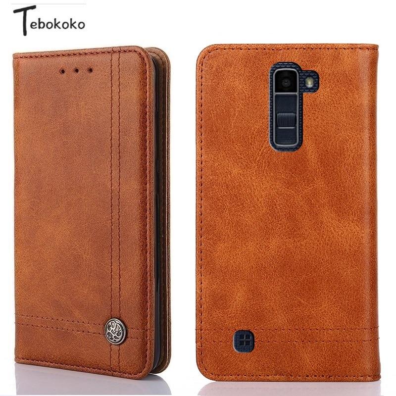 Leather Case for LG K8 K350 Phone Protective Card Slot Holder Wallet Flip Cover for LG K10 2016 5.0inch